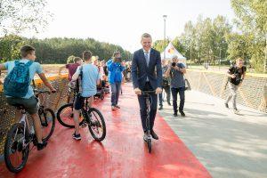 Vilnius tiesia tiltus – atidarytas viadukas per T. Narbuto gatvę